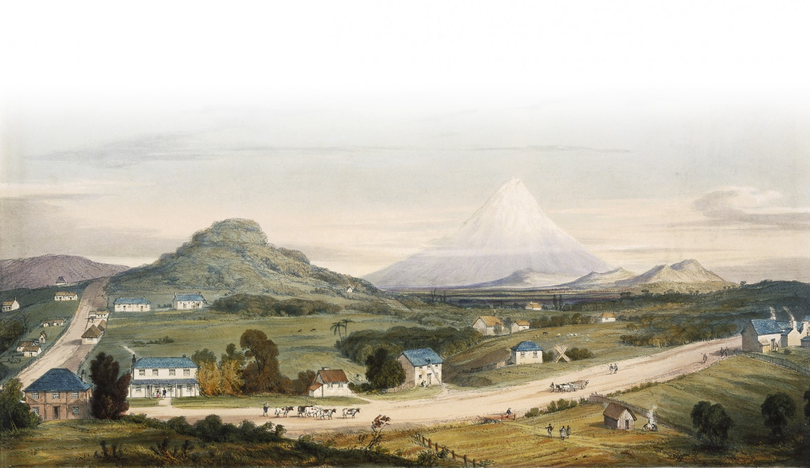 New Plymouth, 1842, by Henry Maplestone.