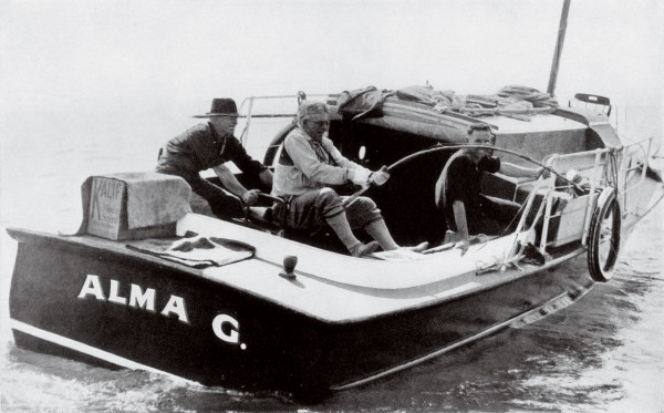 "Grey claimed that the techniques of New Zealand anglers were outdated and unsporting. His method of using a top-mounted reel on a supple rod was soon adopted here. Russell skipper Francis Arlidge (right) called Grey ""easily the best fisherman I had on my boat in 47 years""."