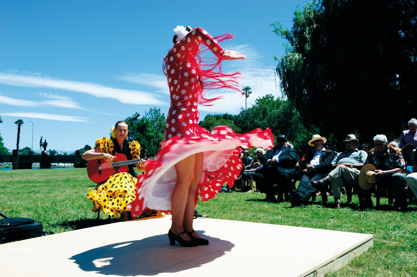 The Gisborne Rose Garden resounded with the sound of castanets, guitar and stamping of feet as a New Zealand-based flamenco dance troupe performed at a powhiri to welcome the Spanish visitors. Gisborne and Valverde del Majano, the small town Manuel Jose came from, have signed the first sister-city accord between New Zealand and Spain.