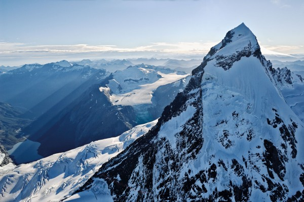 Held fast by winter, snow clings to the dizzying flanks of Mt Aspiring. Seasonal cycles of freeze and thaw deliver pulses of water from the Southern Alps to the plains below. Projections show that climate change may have a profound effect on how and when those plains might receive crucial water in the future.