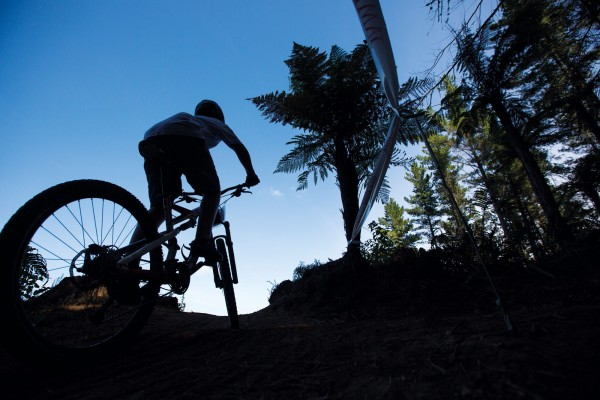 Mountain-bike trails are graded from 1 (easy) to 6 (extreme), and the Moonride circuit includes a mix of grades 1–3. It's manageable even for inexperienced riders but challenging enough to keep hardcore mountain-bikers honest.