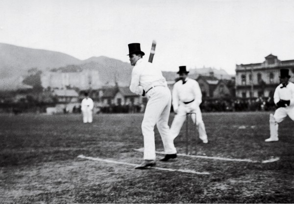 An ardent promoter of the outdoors, Ell was also something of a sportsman. As a young man he played rugby for Canterbury, and in later years enjoyed a knock on the cricket fi eld with his fellow parliamentarians. Here he defends the crease at Wellington's Basin Reserve in about 1910—halfway through a parliamentary career during which he went in to bat for prohibition, tuberculosis sanatoriums, the creation of scenic reserves and many other causes.