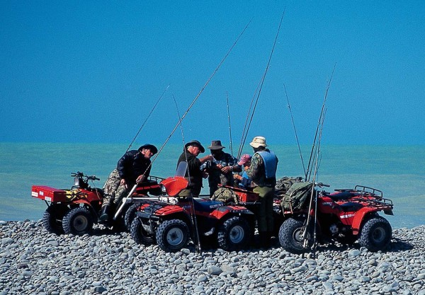 Fat-wheeled farm bikes are the vehicles of choice for traversing the stone banks which accumulate at the mouths of salmon rivers. They also allow older anglers to pursue their sporting passion well into their twilight years. For, once bitten by the salmon bug, anglers rarely recover.