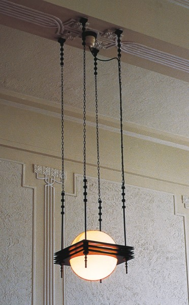 Napier's citizenry didn't always regard its Art Deco heritage as worthy of preservation. Fittings such as the pendant lamps in the Australian Mutual Provident Society were removed in the 1960s. Copies have since been installed in an effort to re-establish an Art Deco interior.