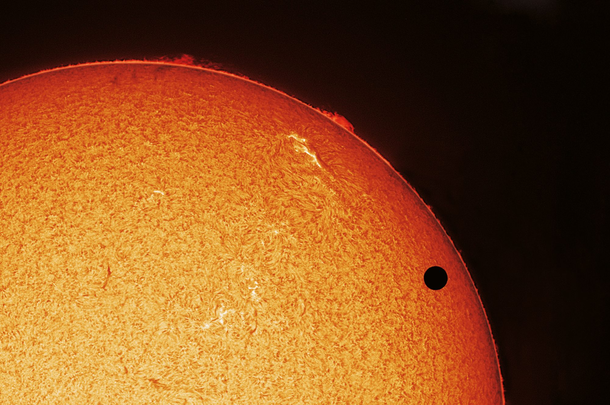 Fire-Gazing: When Venus Transits the Sun 2004 and 2012