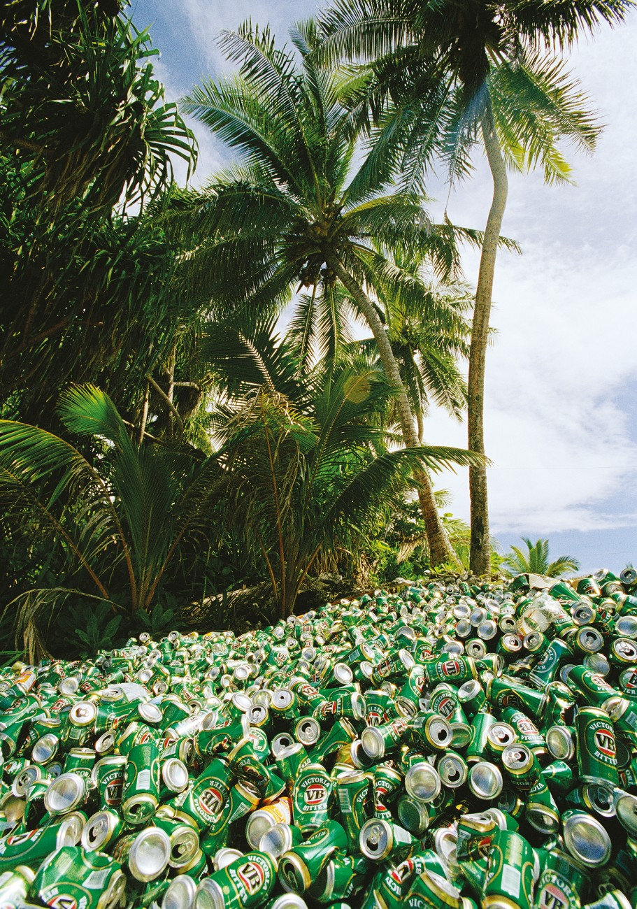 A cynic might say that Tuvalu will never sink beneath the waves so long as Tuvaluans keep raising mountains of rubbish. This pile represents just four weeks' worth of empties from a Fongafale bar. Photographer Giora Dan says that Australia offered aid funding to help deal with Funafuti's burgeoning rubbish problem, but rivalry between national and island leaders stymied the project.