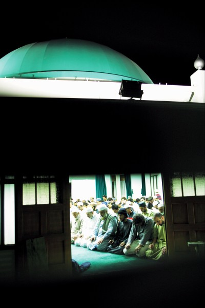 "During Ramadan the Vermont Street mosque is charged with faith as Muslims of every ethnicity crowd beneath the dome to pray, fast, and count the hours in remembrance of the gift of the Koran and celebration of freedom from the ""eternal fire of hell""."