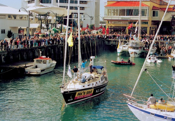 The departure of the Peace Flotilla from Auckland on Hiroshima Day 1995 attracted strong public support. Other yachts of the 14 vessel fleet left from elsewhere in the country.