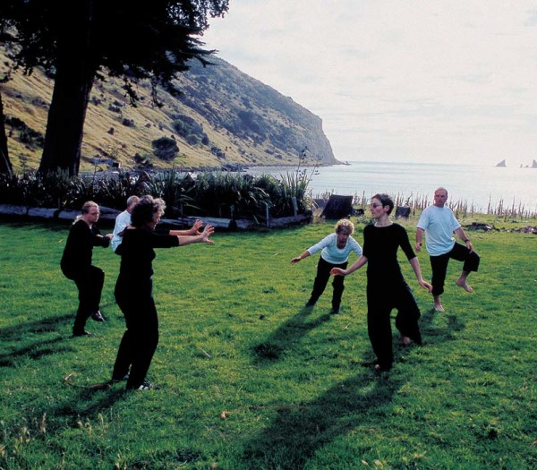 For those in need of relaxation, Chris Rudin-Jones runs tai chi workshops on her lawn in remote Decanter Bay.