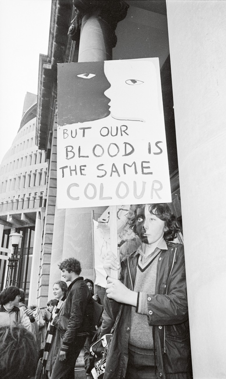 Among those protesting the 1981 Springbok tour was Daniel Morgan-Lynch, a Wellington schoolboy—one of about 80 anti-apartheid demonstrators who marched to the South African Consulate in their school uniforms.