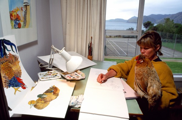 Gillian King-mother, Correspondence School teacher and artist-won a 1991 Telecom award which saw a painting of hers grace the cover of last year's Nelson telephone directory. Artistic skill runs in her family: with her mother she has published two children's books. and. along with her sister, the three women recently held an exhibition of paintings in Nelson.