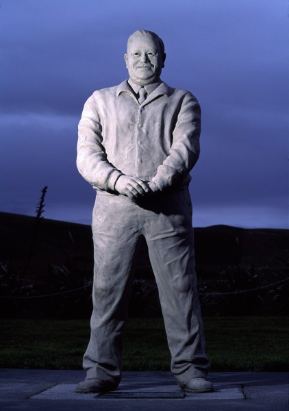 The statue of Tommy Solomon, symbol of the Moriori presence and mana whenua on the Chathams, stands four square on Moriori land at Manukau and gazes at the ocean from whence his ancestors came.