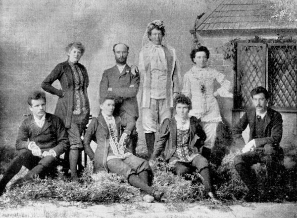 At a time when women were heavily corseted and weighed down with heavy clothes, one enterprising group espoused dress reform. When two of them married in 1894, the entire wedding party wore pants, creating a scandal.