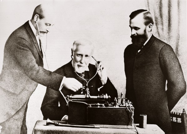 In February 1891, Grey recorded on phonograph a message to the citizens of Auckland. On his right is the mayor, J.H. Upton, and to his left Prof. Douglas Archibald, presumably overseeing the use of this new equipment. Radio was still decades away, and perhaps a phonograph record was a novel way of getting one's voice out to the people. Grey was an MP from the mid-1870s until 1895.