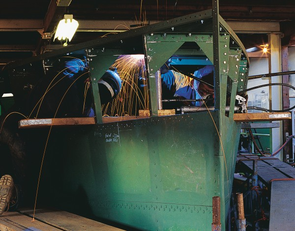 Salvaged from the mud by the Whanganui Riverboat Restoration and Navigation Trust, Waimarie was rebuilt in a derelict boathouse, using original design and manufacturing methods.
