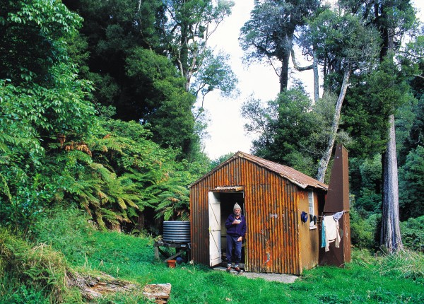 Makakoere Hut, Te Urewera National Park, where the largest stands of native forest in the North Island are to be found.