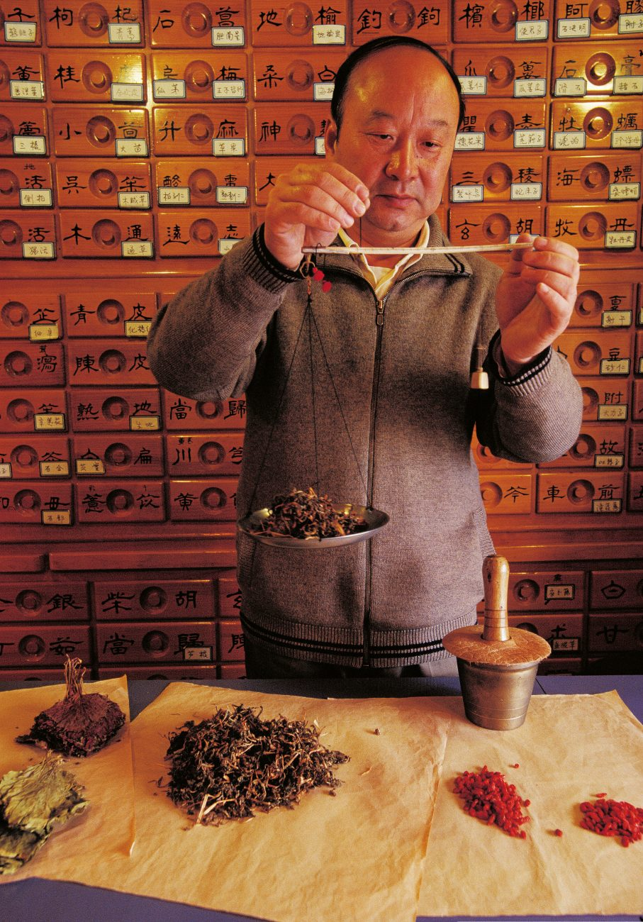 "Mulberry for fever, perilla for morning sickness, wolfberry for reinforcing the blood—these are everyday remedies to Jiachen Zhu, who trained as a herbalist and teacher of traditional Chinese medicine in Hangzhou, south of Shanghai. He set up shop in Greenlane in 1996, when Asian immigration was on the rise, but has been disappointed with trade. ""When I called in, he seemed to be weighing his future,"" says photographer Peter Quinn."