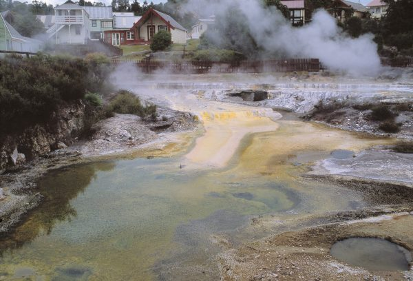 Many Tuhourangi, their lands buried buy the Tarawera eruption, moved to Whakarewarewa, on the outskirts of Rotorua.