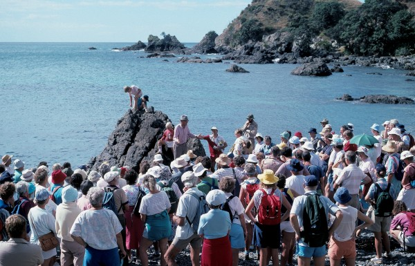 At Tawharanui Regional Park, 90 km north of Auckland, an ecology trail dedicated to Morton was opened in April 1989. In his inimitable style, he expounded on shore biology to an interested crowd who accompanied him on a coastal ramble.