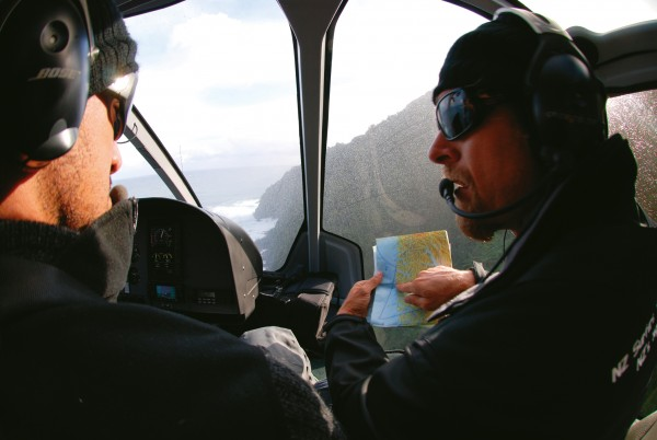Corporate sponsorship has greatly extended the resources of big wave surfers, such as Hyundai's Big Wave Discovery Mission which allowed Daniel Kereopa and Campbell Farrell to explore 400 km of Fiordland's most remote coastline by helicopter looking for the next big wave.