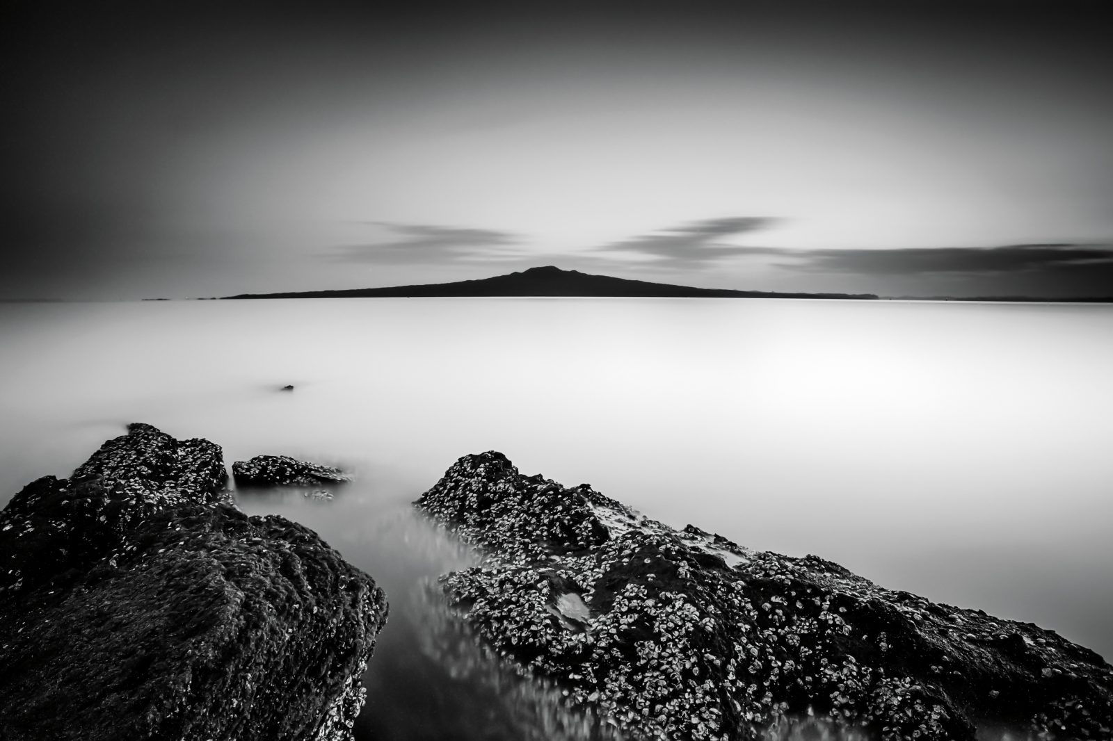 "Making long exposures of seascapes is a passion for photographer Susan Blick. ""It allows me to blend photography with art and gives an image a story,"" she says. This one, taken from Auckland's North Shore facing Rangitoto Island, was made during a peaceful sunrise ""where the sea was calm and the light fantastic"". An exposure of more than 500 seconds gives the image a soft, dreamy feel."